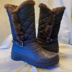 Faux fur quilted Winter boots